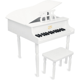 Grand Piano and Stool (White) by Vilac